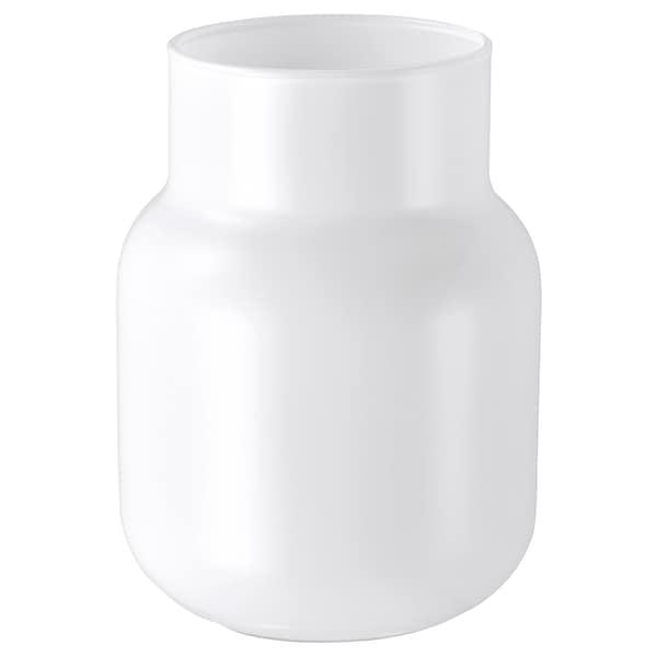 FÖRENLIG Vase, white, 11 cm
