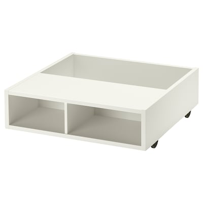 FREDVANG Underbed storage/bedside table, white, 59x56 cm