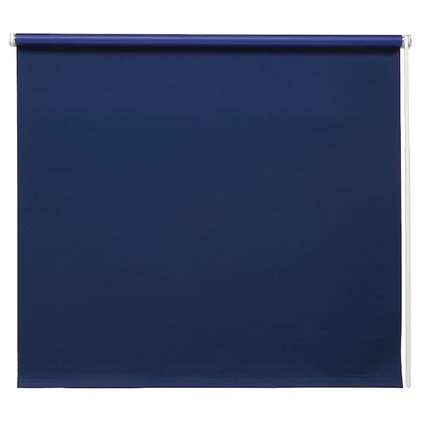 FRIDANS Block-out roller blind, blue, 80x195 cm