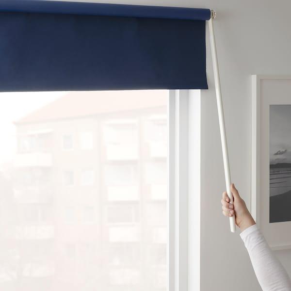 FRIDANS Block-out roller blind, blue, 100x195 cm