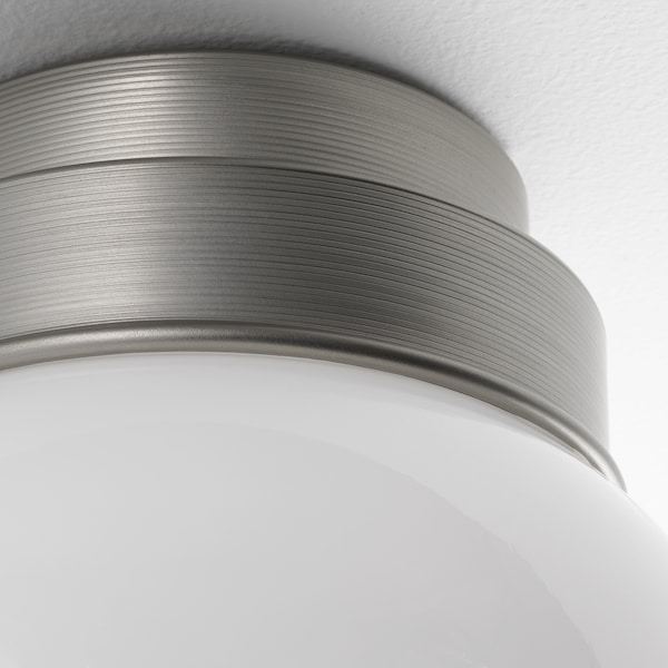FRIHULT Ceiling/wall lamp, stainless steel colour