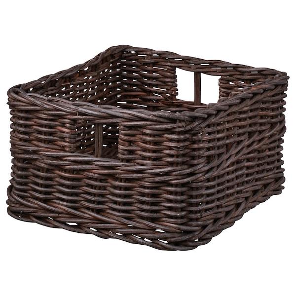 GABBIG Basket, dark brown, 25x29x15 cm