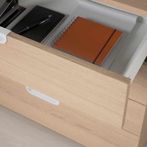 GALANT Drawer unit, white stained oak veneer, 80x80 cm
