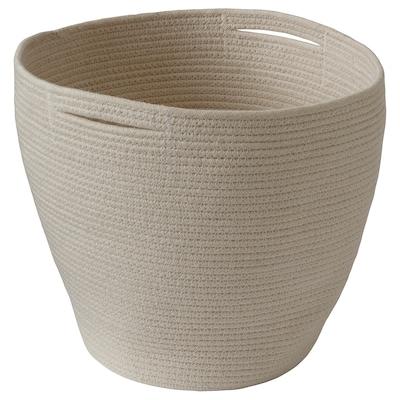 GEGGA Basket, braided/natural, 30x30 cm