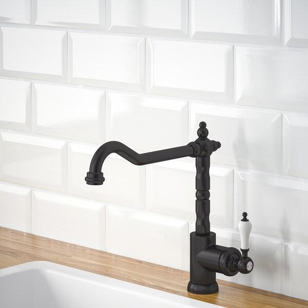 GLITTRAN Kitchen mixer tap, black