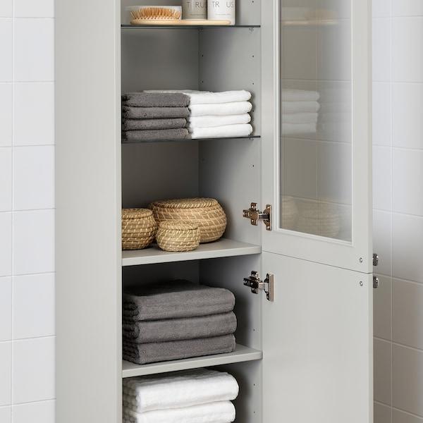 GODMORGON High cabinet, Kasjön light grey, 40x32x192 cm