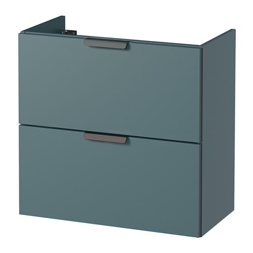 GODMORGON Wash Stand With 2 Drawers