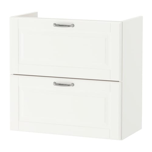 GODMORGON Wash-stand with 2 drawers, Kasjön white