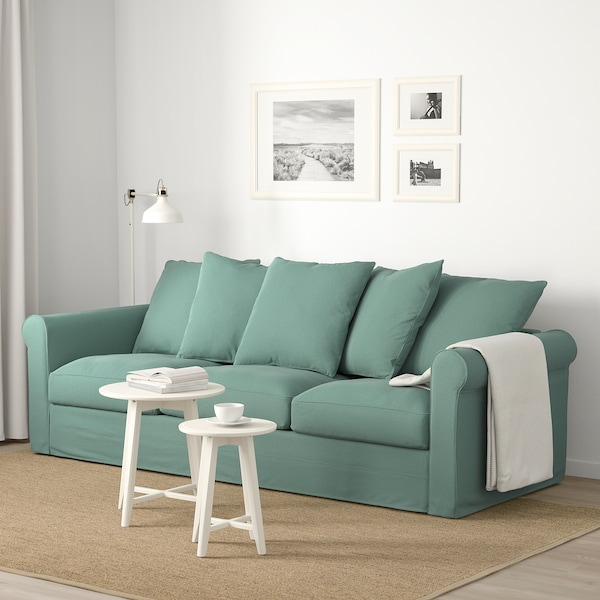 GRÖNLID 3-seat sofa Ljungen light green 104 cm 247 cm 98 cm 7 cm 18 cm 68 cm 211 cm 60 cm 49 cm