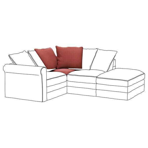 GRÖNLID Cover for corner section, Ljungen light red
