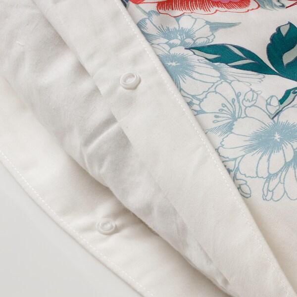 GRÖNVIDE Quilt cover and pillowcase, multicolour, 150x200/50x60 cm