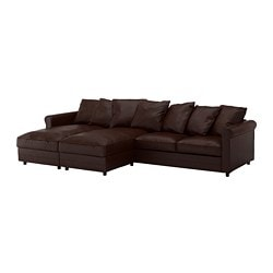 GRÖNLID 4-seat sofa, with chaise longues, Kimstad dark brown