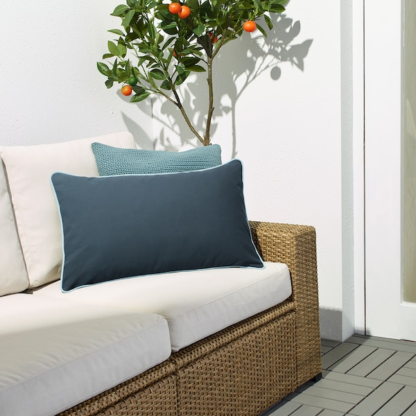 GULLINGEN Cushion cover, in/outdoor/dark blue, 40x65 cm