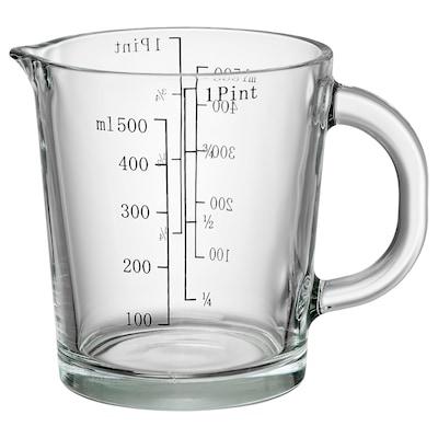 GULLPIGG Measuring jug, tempered glass, 58 cl