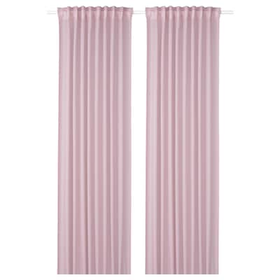 GUNRID Air purifying curtain, 1 pair, light pink, 145x300 cm