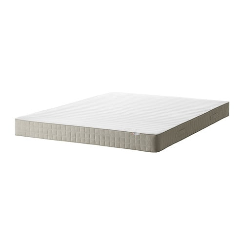HAFSLO Sprung mattress   Bonnell springs provide all-over support to ensure a restful night's sleep.