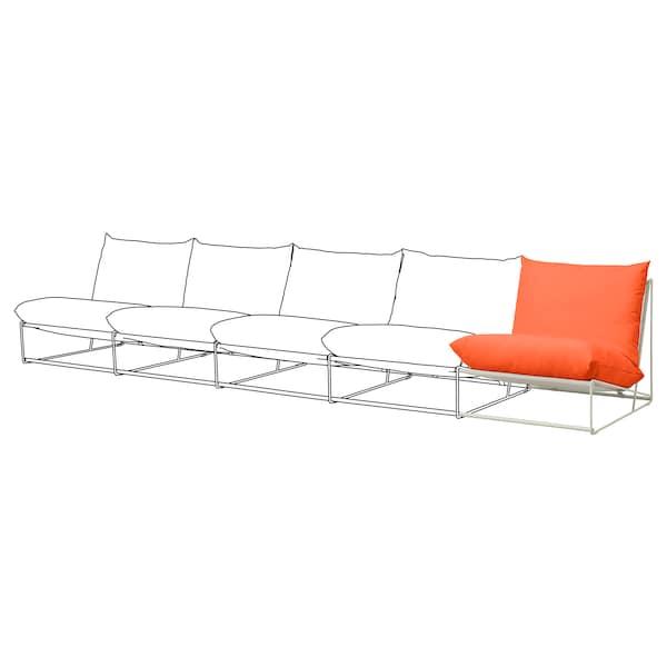 HAVSTEN Add-on unit, in/outdoor, orange/beige, 83x94x90 cm