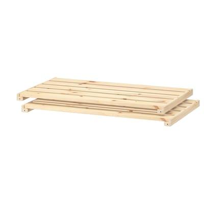 HEJNE Shelf, pine, 77x47 cm 2 pack