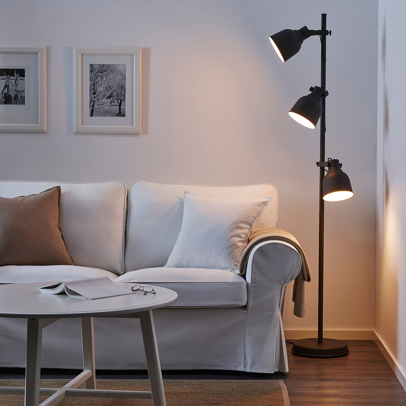 Hektar Floor Lamp With 3 Spot Dark Grey Ikea Switzerland