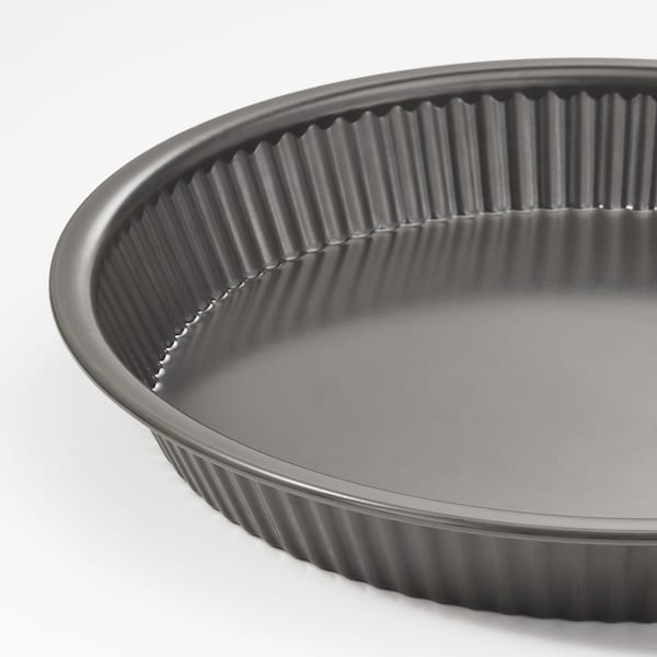 HEMMABAK Pie dish, grey, 30 cm
