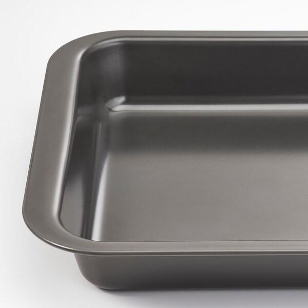 HEMMABAK Roasting tin, grey, 36x27 cm