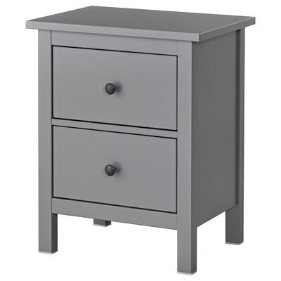 HEMNES chest of 2 drawers grey 54 cm 38 cm 66 cm