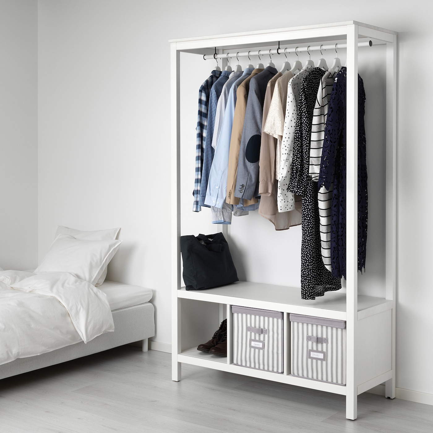 Hemnes Open Wardrobe White Stained Ikea Switzerland