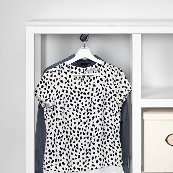 HEMNES Open wardrobe, white stained, 99x37x130 cm