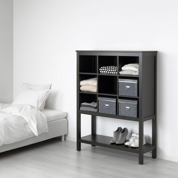 HEMNES Storage unit, black-brown, 99x130x37 cm