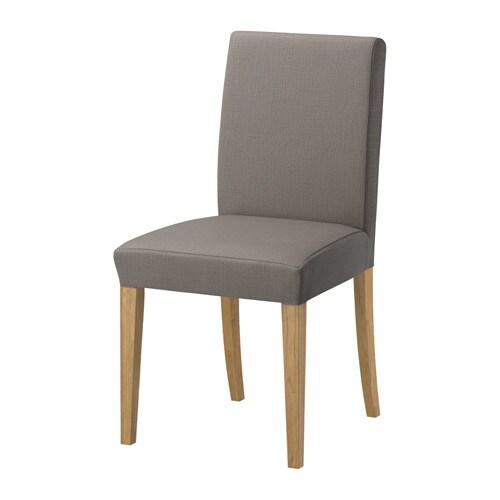 henriksdal chair nolhaga grey beige ikea