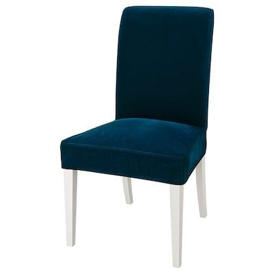 HENRIKSDAL chair white/Djuparp dark green-blue 110 kg 51 cm 58 cm 97 cm 51 cm 42 cm 47 cm