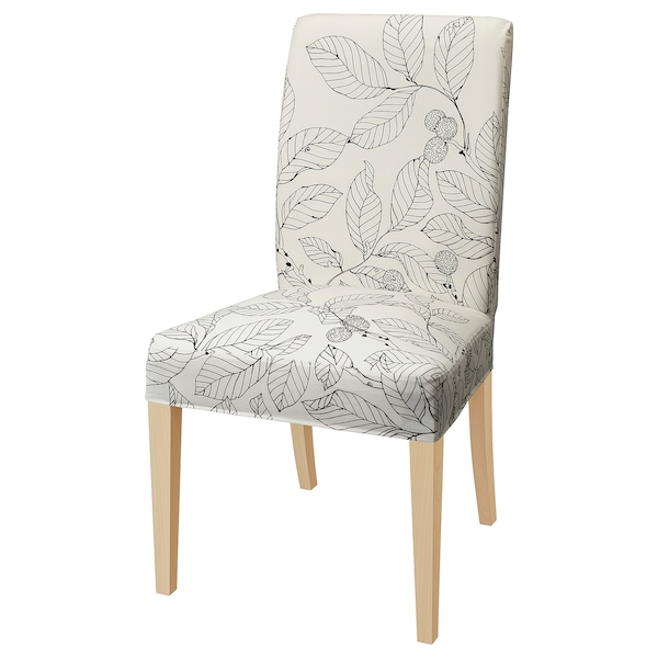 HENRIKSDAL chair birch/Vislanda black/white 110 kg 51 cm 58 cm 97 cm 51 cm 42 cm 47 cm