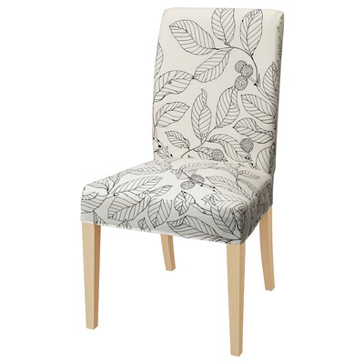 HENRIKSDAL chair birch/Vislanda black/white 110 kg 51 cm 58 cm 97 cm 51 cm 42 cm 47 cm