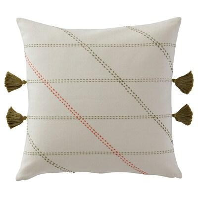 HERVOR Cushion cover, handmade off-white, 50x50 cm