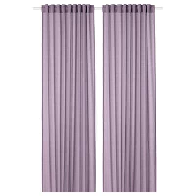 HILJA Curtains, 1 pair, lilac, 145x300 cm