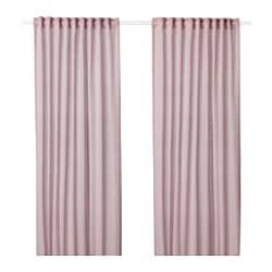 HILJA curtains, 1 pair, pink