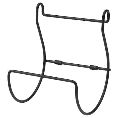 HULTARP Kitchen roll holder, black
