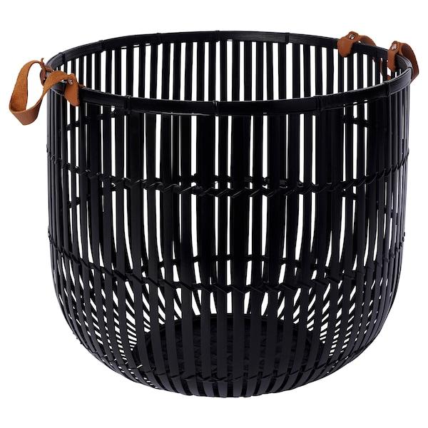 HURRING Basket, bamboo black, 40 cm