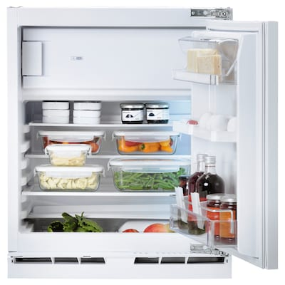 HUTTRA Integrated fridge w freezer compart, white, A++
