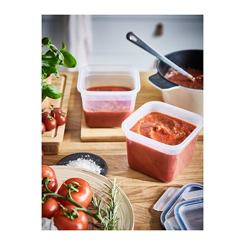 IKEA 365+ Food container   Reduce food waste by storing your leftovers in a food container and reheating for another meal.