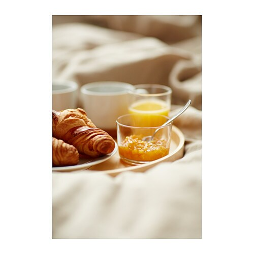 IKEA 365+ Glass   Also suitable for hot drinks.  Made of tempered glass, which makes the glass durable and extra resistant to impact.