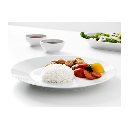 IKEA 365+ Plate   Made of feldspar porcelain, which makes the plate impact resistant and durable.