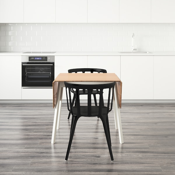 IKEA PS 2012 / IKEA PS 2012 table and 2 chairs bamboo/black 106 cm 74 cm 138 cm 80 cm 74 cm