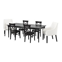 INGATORP /  INGOLF Table and 6 chairs