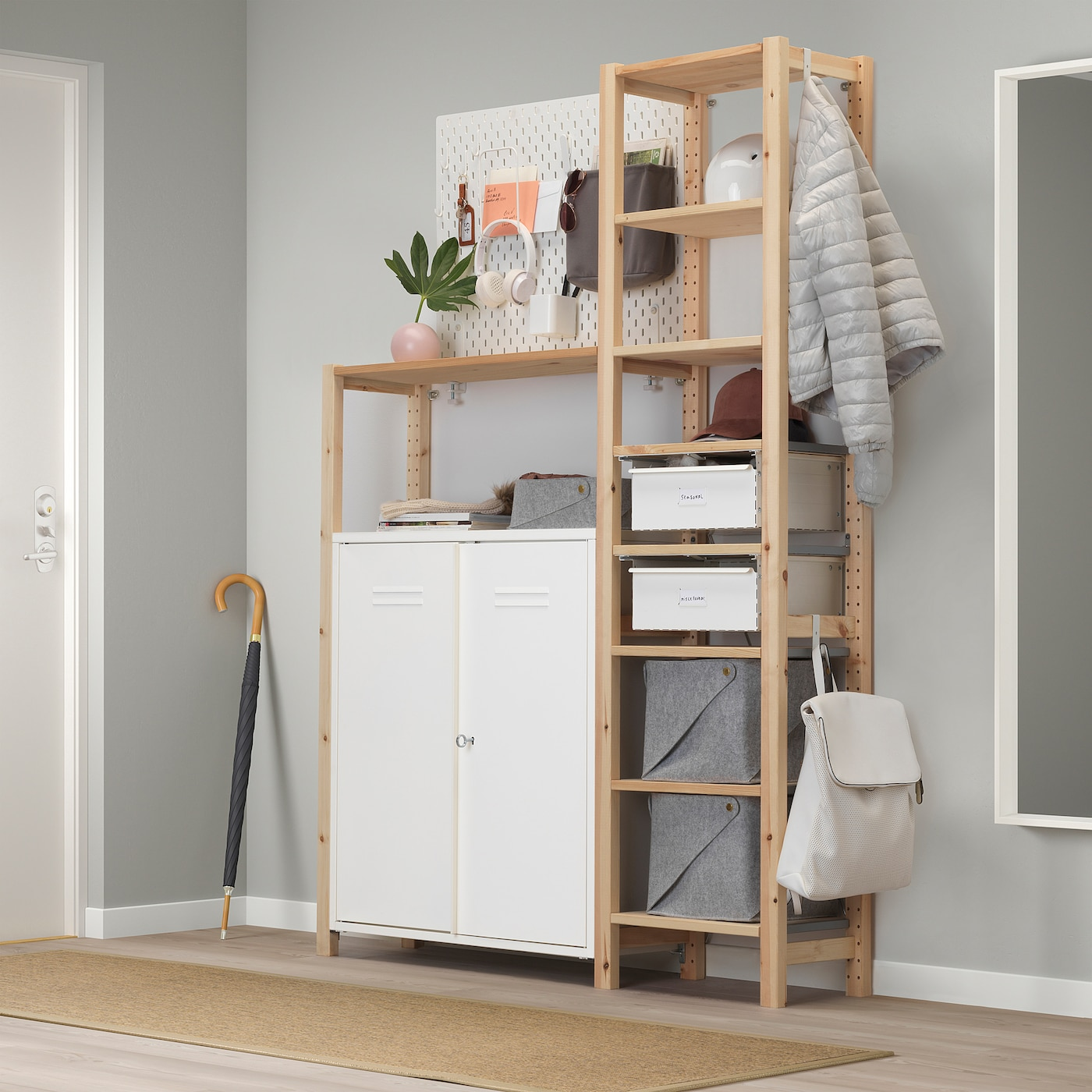 Ivar Cabinet With Doors White Ikea Switzerland