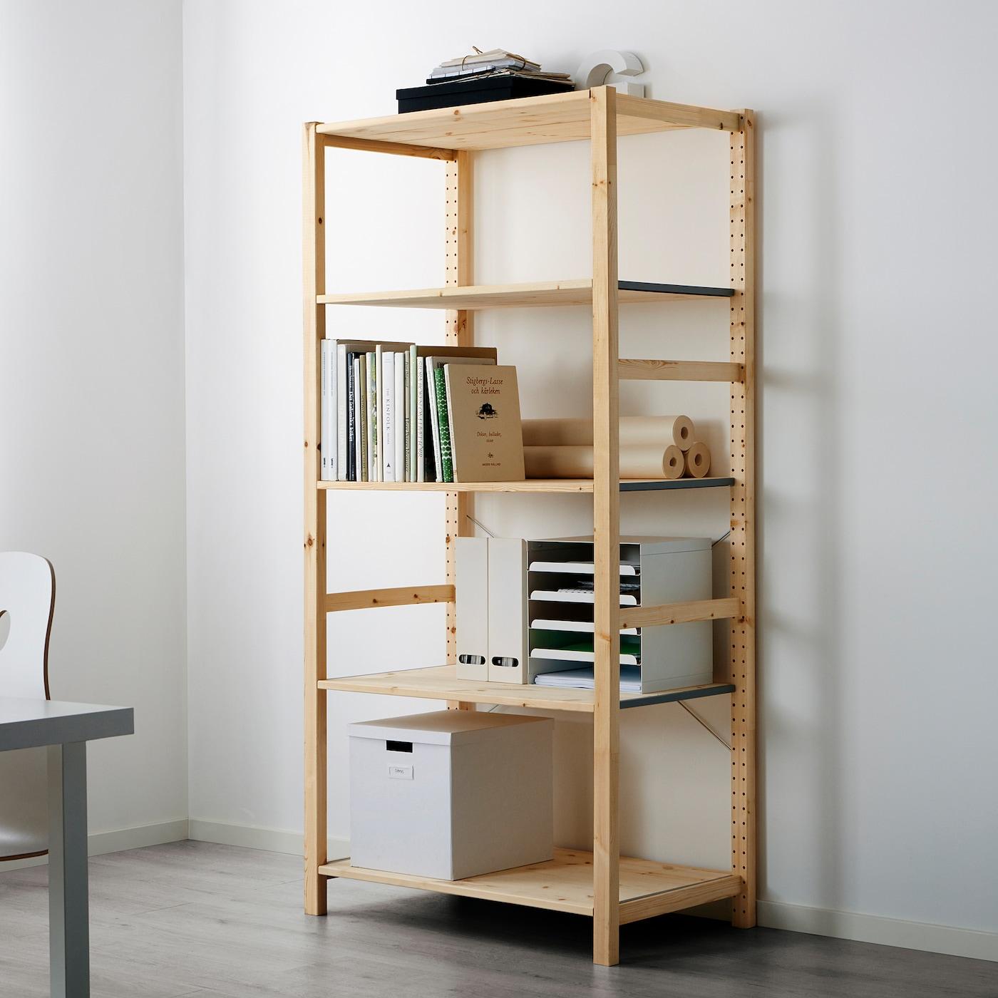 Ikea Scaffali Legno Ivar ivar shelving unit - pine 89x50x179 cm