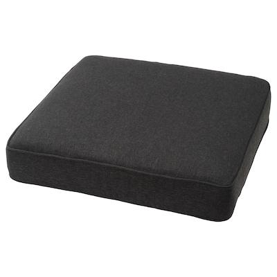 JÄRPÖN Cover for seat cushion, outdoor anthracite, 62x62 cm