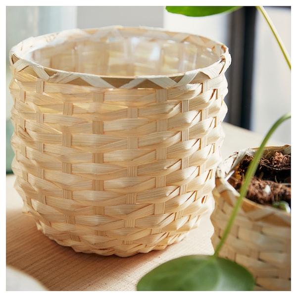 KAFFEBÖNA Plant pot, bamboo, 15 cm