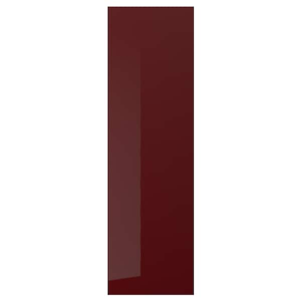 KALLARP Door, high-gloss dark red-brown, 60x200 cm