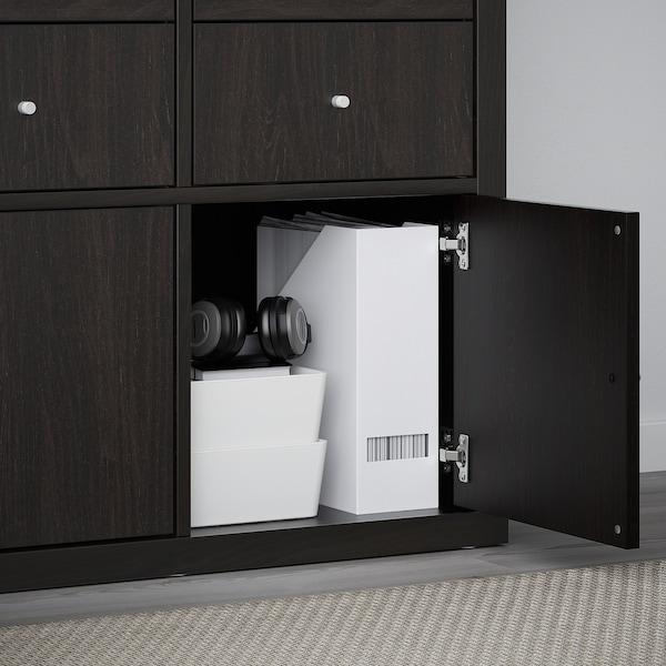 KALLAX Insert with door, black-brown, 33x33 cm